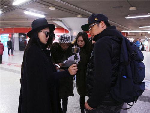 李湘被警察带走 大白夫妇不知所措