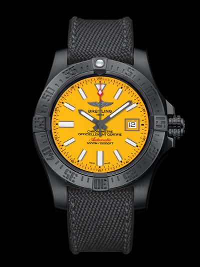 百年灵发布全新复仇者二代深潜海狼黑钢腕表