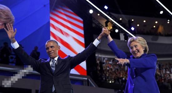 奥巴马为希拉里站台 8年时间化干戈为玉帛