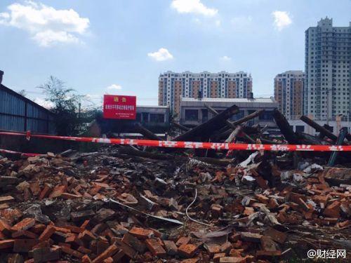 四野纪念馆东侧革命旧址遭强拆 四野战军指挥所成废墟