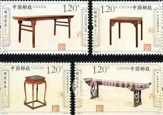 这两套明清家具邮票有什么相同点和不同点?