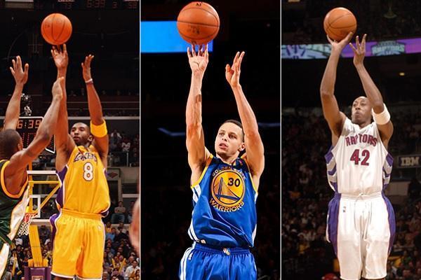 库里单场命中13记三分球 独享NBA三分记录!