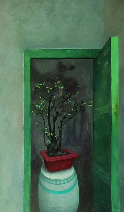 透过光的帷幕:庄棪个人作品展作品欣赏