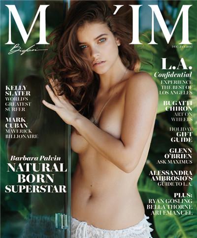 超模Barbara Palvin登上《Maxim》杂志12月号封面