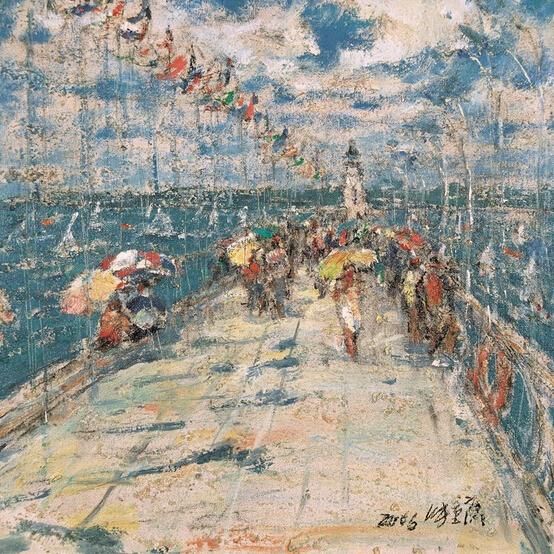 蓝色船歌:张重庆油画艺术展作品欣赏
