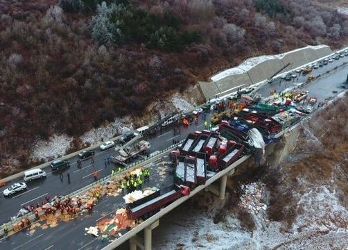 京昆高速交通事故后续理赔情况报道 大地保险预赔539.8万元