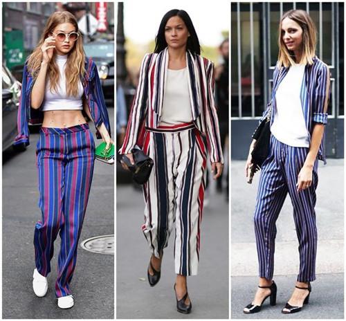 2017年服装流行趋势 竖条纹vertical stripe时髦又性感