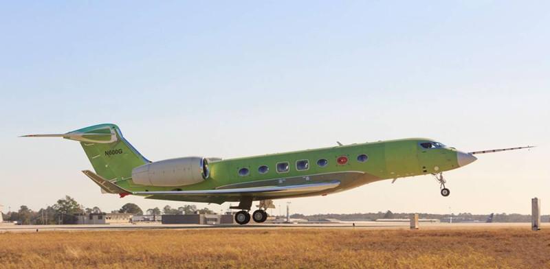 湾流新G600喷气私人飞机进行首次测试飞行