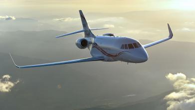 Luxaviation英国添加一猎鹰2000LXS私人飞机到舰队