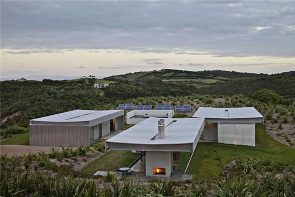 新西兰隐岛豪宅:每种空间都有相应的形式变化
