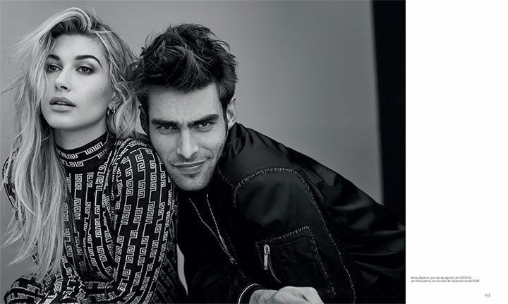 超模Hailey登上《Harper's Bazaar》杂志1月号封面