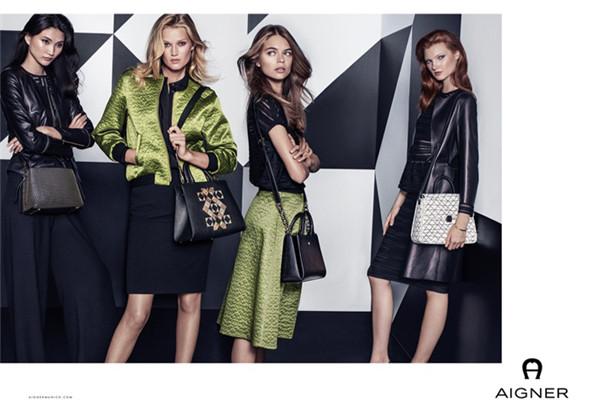 Aigner(爱格纳)释出2017春夏系列包包广告大片