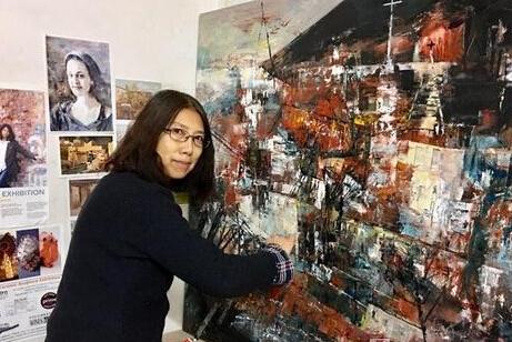 2017迎新春——李文、陈艳玲油画展北京开展