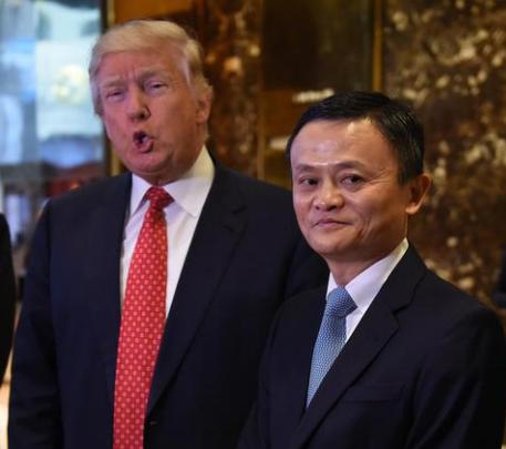 马云会见特朗普 承诺未来5年为美国创造100万个工作岗位