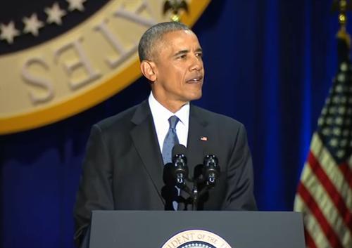 奥巴马卸任 奥巴马在芝加哥发表告别演讲