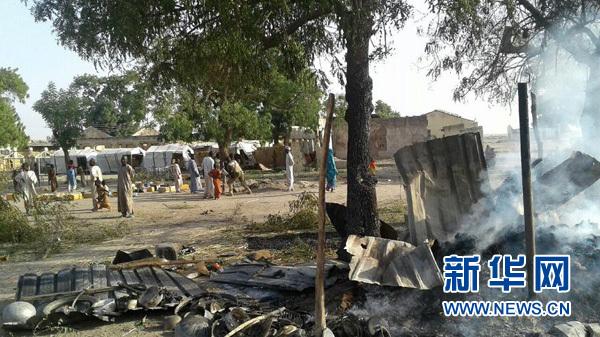 尼日利亚军机误袭难民营 已造成52人死亡