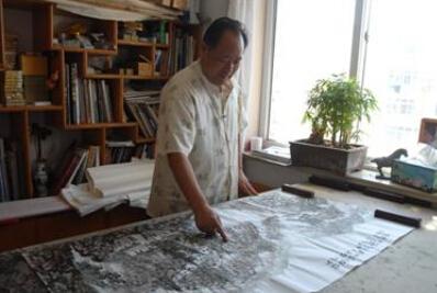 青岛艺术家指画作品被朱德纪念馆收藏