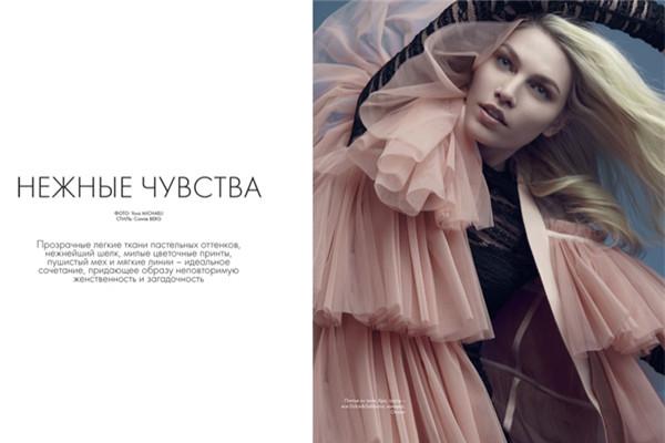 超模Aline Weber登上《Elle》杂志2月号封面