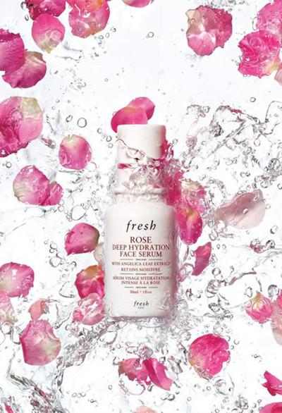 Fresh全新推出玫瑰润泽密集保湿精华露