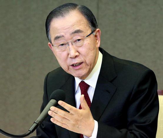 前任联合国秘书长潘基文退选后首露面 就应对气候环境变化发表看法