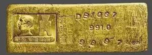 民国中央造币厂铸造的金条 绝对亮瞎你眼睛