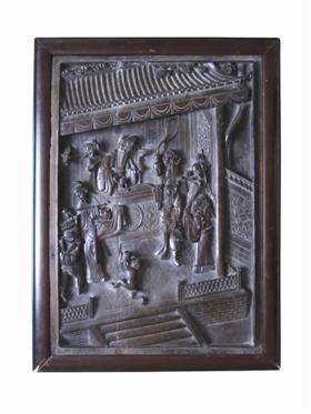 木雕收藏鉴赏:清代紫檀木雕八仙祝寿图挂屏