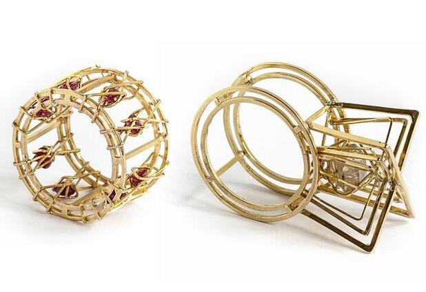 比利时珠宝设计师Hermien Cassiers打造几何风珠宝首饰