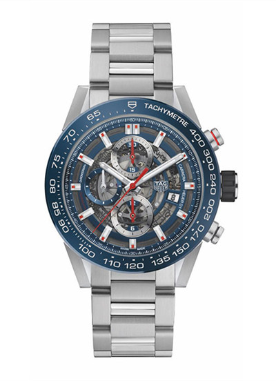 TAG Heuer推出全新HEUER-01镂空工艺计时腕表