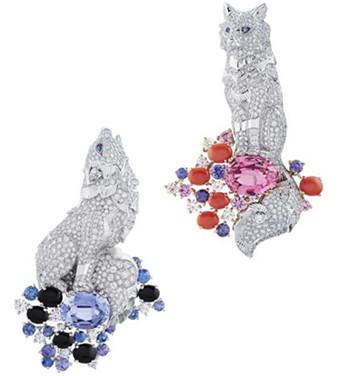 梵克雅宝诺亚方舟珠宝系列 小动物集体出动秀恩爱