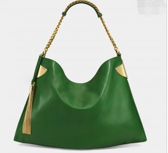 Gucci推出绿色皮质手袋 品质感非凡