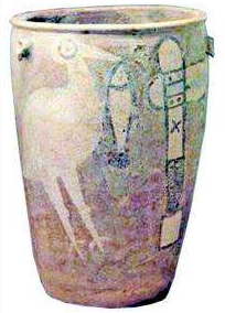 彩绘鹳鱼石斧图陶缸