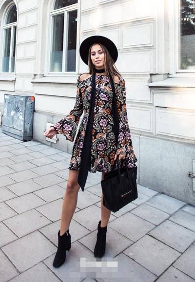 欧美穿衣搭配技巧示范 来条丝巾温暖又时尚