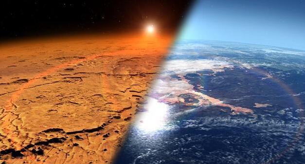 """火星变贫瘠荒凉 竟是因其氩气和其它气体""""喷溅""""所致"""