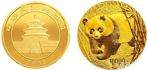 2002版熊猫金币在香港现代币专场拍出66万高价