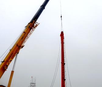 蒙城生物质项目第一根钢架吊装就位 锅炉安装正式启动
