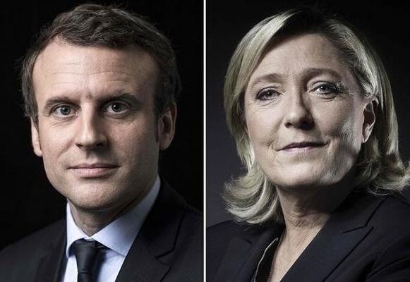 法国大选初步投票结果:马克龙、勒庞进入第二轮 避险失利黄金暴跌