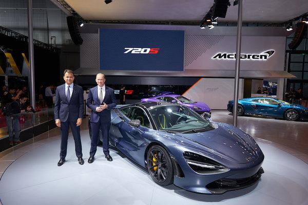 迈凯轮于上海车展推出全新720S/570GT限量版车型