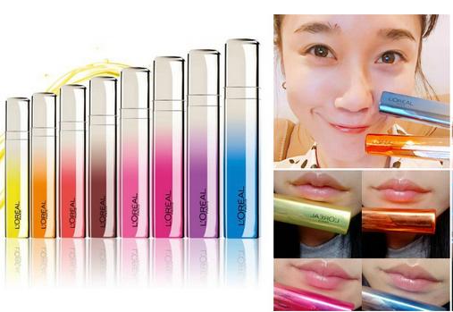 欧莱雅推出变色彩虹唇萃化妆品 共8种色调