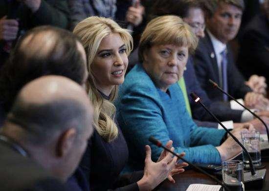 特朗普女儿访问德国 穿着时尚特别引人瞩目