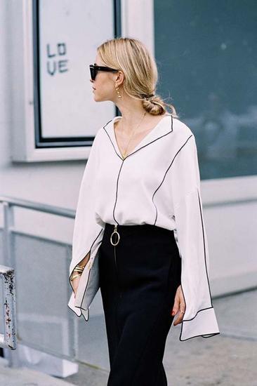 夏季穿衣搭配技巧示范 三个法则让衬衣也时髦起来