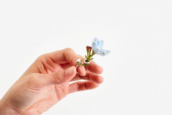 设计师Gahee Kang珠宝新作Ikebana Ring 指尖上的唯美花器