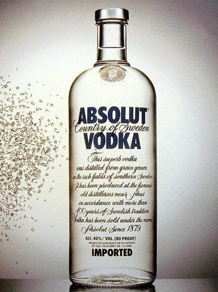 绝对伏特加酒荣升为世界第二大伏特加酒