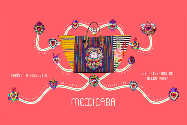 Christian Louboutin推出全新MEXICABA手挽包包