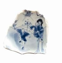 青花瓷片收藏与鉴赏:童子武举