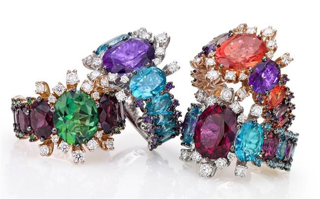 珠宝商Stefan Hafner推出Aria系列珠宝 造就彩色托帕石花园