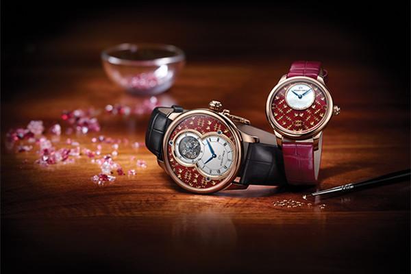 Jaquet Droz推出六款全新金箔雕花珐琅工艺腕表