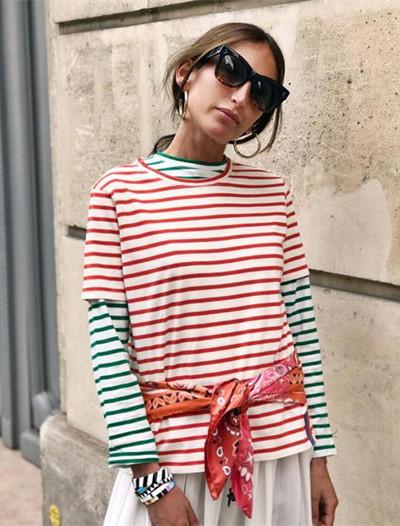 欧美服装流行趋势示范 夏日一件海魂衫就足矣