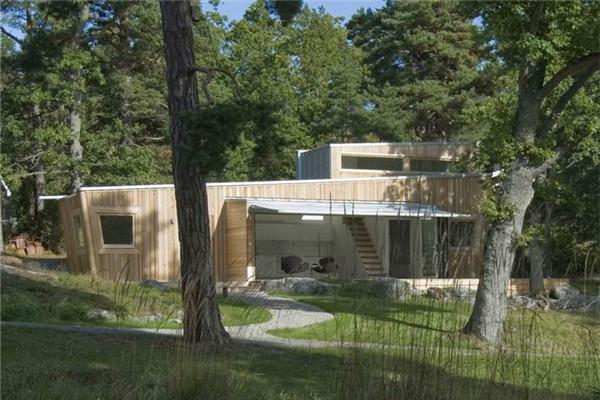 斯德哥尔摩木式豪宅:消除了所有形式上的浪费