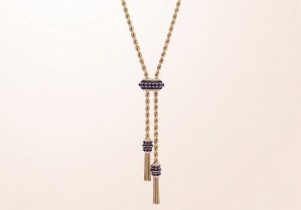高级珠宝品牌梵克雅宝Liane系列 演绎黄K金扭纹项链时尚美学