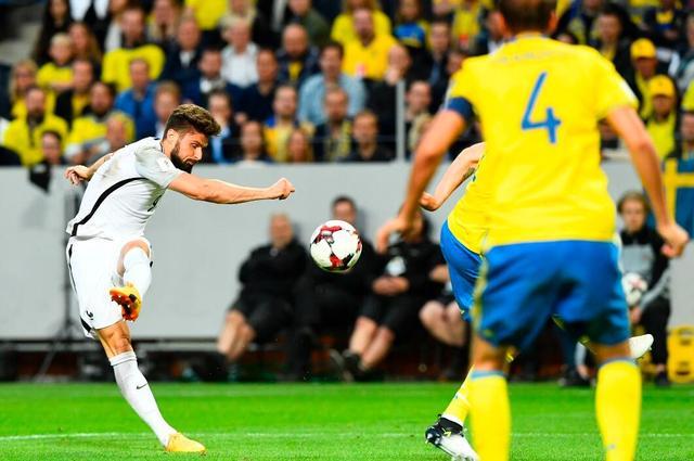 世预赛欧洲区A组第6轮焦点战 法国队客场1-2输给瑞典
